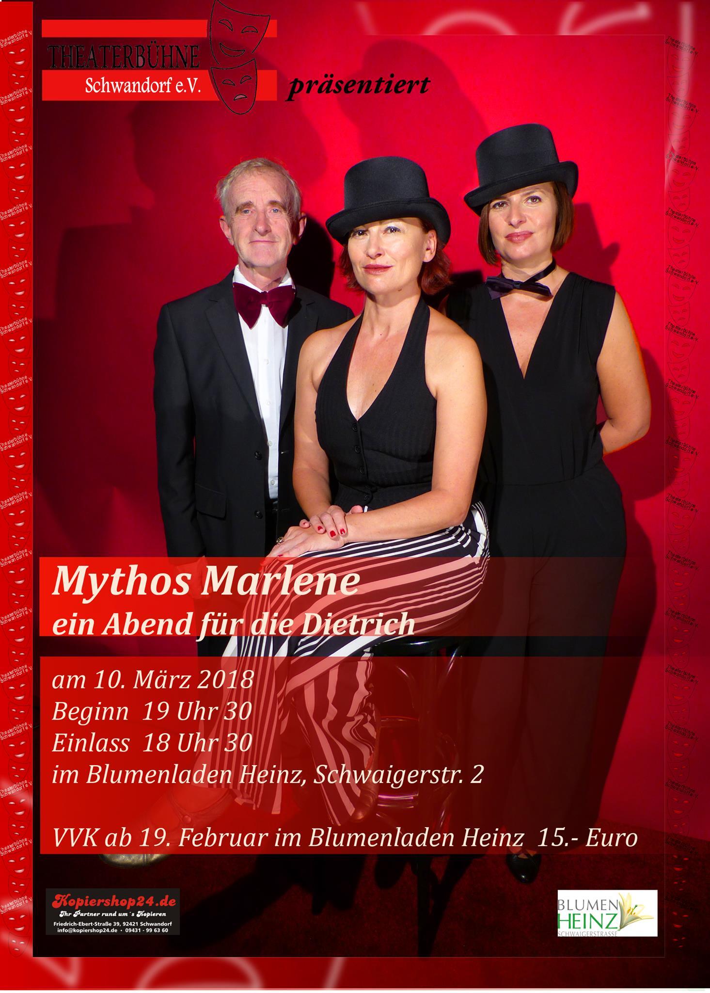 Mythos Marlene bei Blumen Heinz